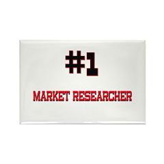 Number 1 MARKET RESEARCHER Rectangle Magnet (10 pa