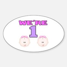We're 1 Oval Decal