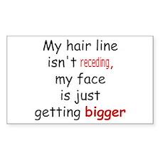 hair loss humor Rectangle Decal