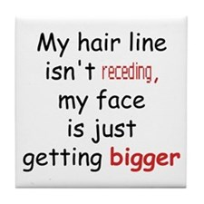 hair loss humor Tile Coaster