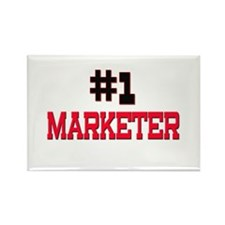 Number 1 MARKETER Rectangle Magnet