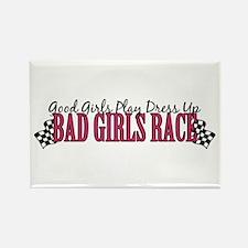 Bad Girls Race Rectangle Magnet (100 pack)