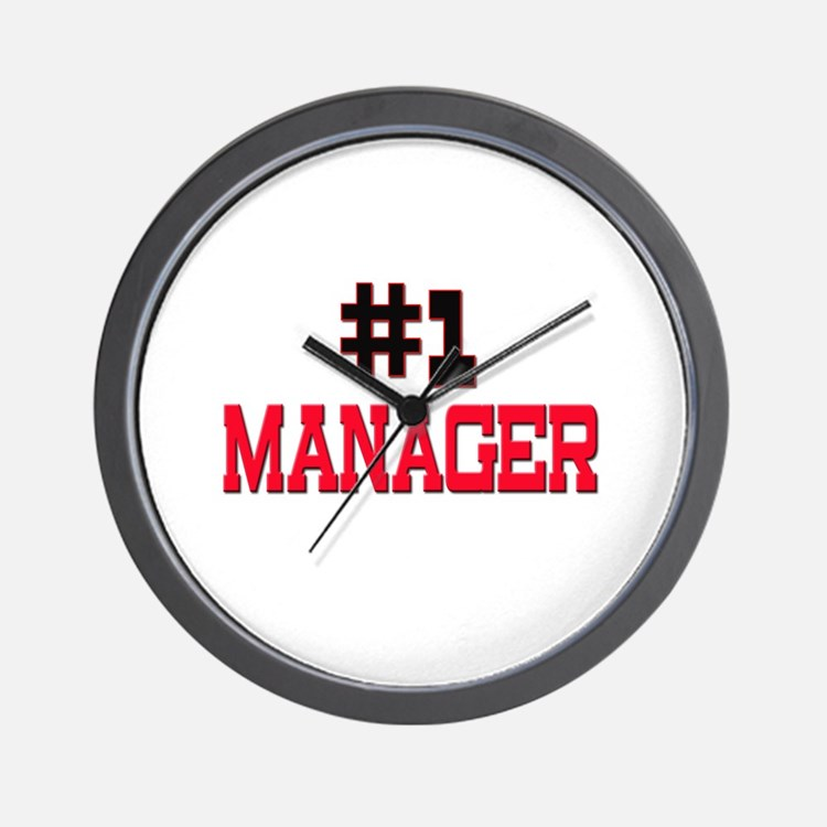 Number 1 MANAGER Wall Clock