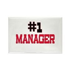 Number 1 MANAGER Rectangle Magnet