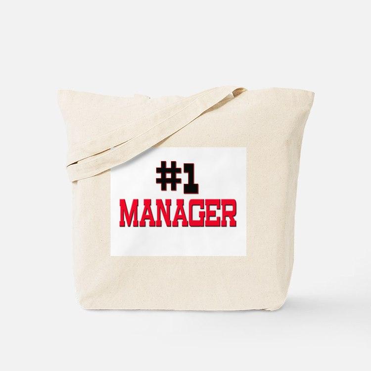 Number 1 MANAGER Tote Bag