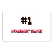 Number 1 MANAGEMENT TRAINEE Rectangle Decal