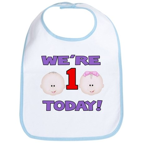 We're 1 Today! Bib