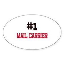 Number 1 MAIL CARRIER Oval Decal