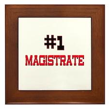 Number 1 MAGISTRATE Framed Tile