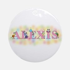 """""""Alexis"""" with Mice Ornament (Round)"""