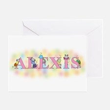 """Alexis"" with Mice Greeting Card"
