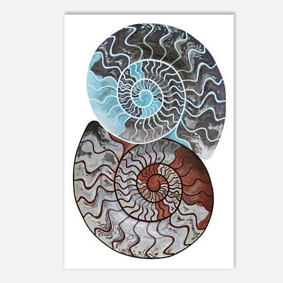 Cute Ammonite Postcards (Package of 8)