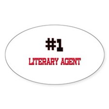 Number 1 LITERARY AGENT Oval Decal