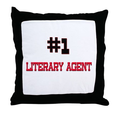 Number 1 LITERARY AGENT Throw Pillow