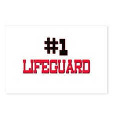 Number 1 LIFEGUARD Postcards (Package of 8)