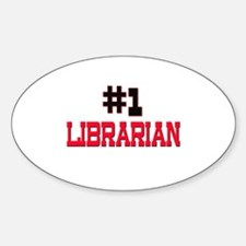 Number 1 LIBRARIAN Oval Decal