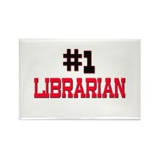 Number 1 LIBRARIAN Rectangle Magnet