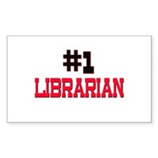 Number 1 LIBRARIAN Rectangle Decal