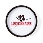 Number 1 LEGIONNAIRE Wall Clock