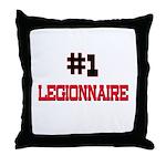 Number 1 LEGIONNAIRE Throw Pillow