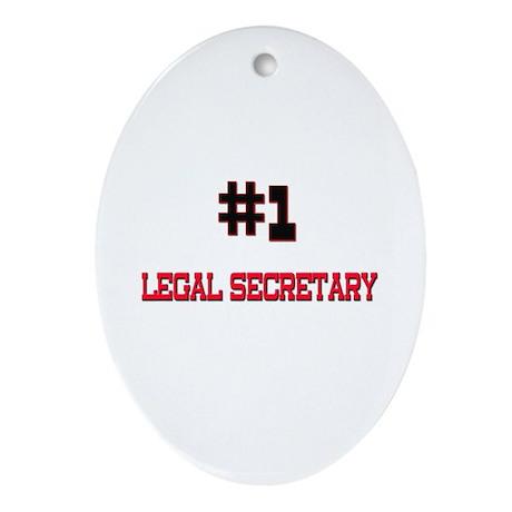 Number 1 LEGAL SECRETARY Oval Ornament