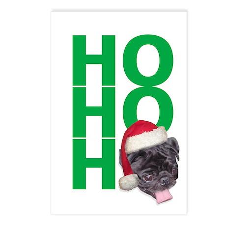 AllThingsPug.com Black Pug Santa Postcards