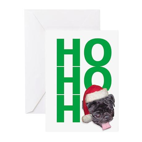 AllThingsPug.com Black Pug Santa Christma Cards 10