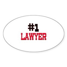 Number 1 LAWYER Oval Decal