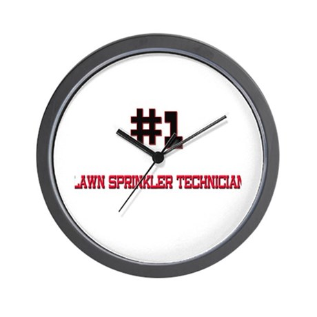 Number 1 LAWN SPRINKLER TECHNICIAN Wall Clock