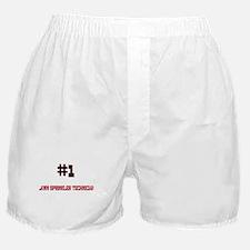 Number 1 LAWN SPRINKLER TECHNICIAN Boxer Shorts
