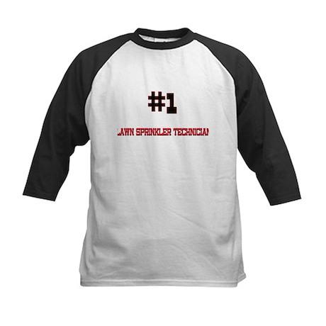 Number 1 LAWN SPRINKLER TECHNICIAN Kids Baseball J