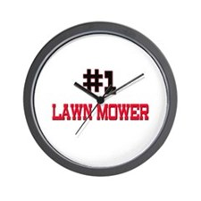 Number 1 LAWN MOWER Wall Clock