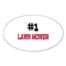 Number 1 LAWN MOWER Oval Decal