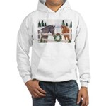 Holiday Horses Hooded Sweatshirt