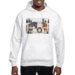 Holiday Horses Hooded Sweatshirt