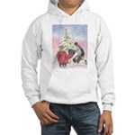 Landseer Newfoundland Christmas Hooded Sweatshirt