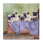 Pugs, Pug Tile Coaster