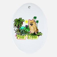 Pomeranian Gifts-Pun Intended Oval Ornament