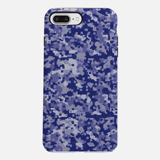 BLUE DIGI CAMO iPhone 7 Plus Tough Case