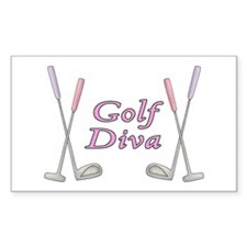 Golf Diva Rectangle Decal
