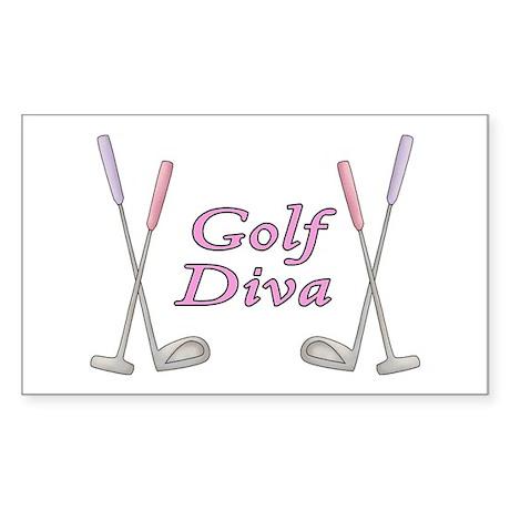 Golf Diva Rectangle Sticker