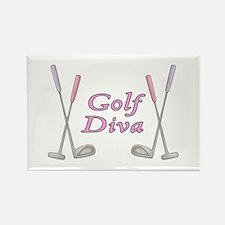 Golf Diva Rectangle Magnet