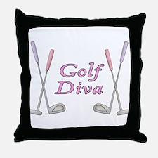 Golf Diva Throw Pillow