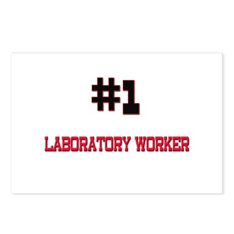Number 1 LABORATORY WORKER Postcards (Package of 8