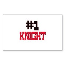 Number 1 KNIGHT Rectangle Decal