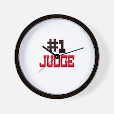 Number 1 JUDGE Wall Clock
