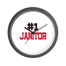 Number 1 JANITOR Wall Clock