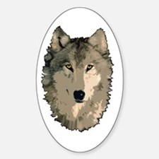 Wolf Pack Oval Decal