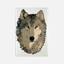 Wolf Pack Rectangle Magnet