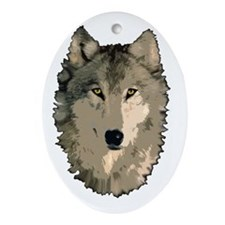 Wolf Pack Oval Ornament